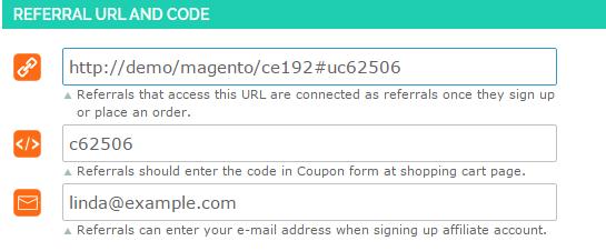 Magento 2 affiliate links